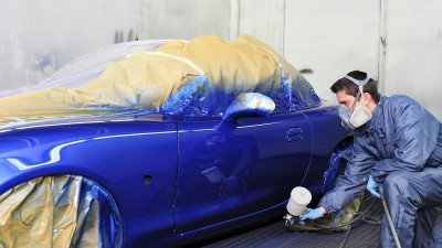 peinture d'une voiture